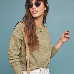 Anthropologie Temecula Top in Moss Green